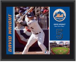 "David Wright New York Mets Sublimated 10"" x 13"" Plaque"