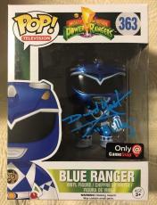 David Yost Signed Autographed Metallic Blue Ranger Funko Pop Power Rangers PSA 2
