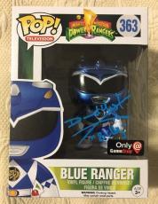David Yost Signed Autographed Metallic Blue Ranger Funko Pop Power Rangers PSA 3