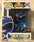 David Yost Signed Autographed Metallic Blue Ranger Funko Pop Power Rangers PSA 5