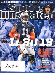 Chris Davis Auburn Tigers Autographed Sports Illustrated Auburn Shocks Bama Magazine with Kick 6 Inscription