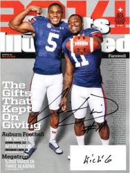 Chris Davis Auburn Tigers Autographed Sports Illustrated Gift Kept Giving Magazine with Kick 6 Inscription
