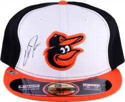 Chris Davis Baltimore Orioles Autographed Authentic White New Era Cap - Mounted Memories