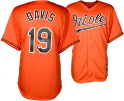 Chris Davis Baltimore Orioles Autographed Majestic Replica Orange Jersey
