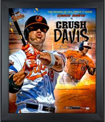 Framed Chris Davis Autographed 20x24 Marquee Photo