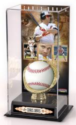 Chris Davis Baltimore Orioles Gold Glove Baseball Display Case - Mounted Memories