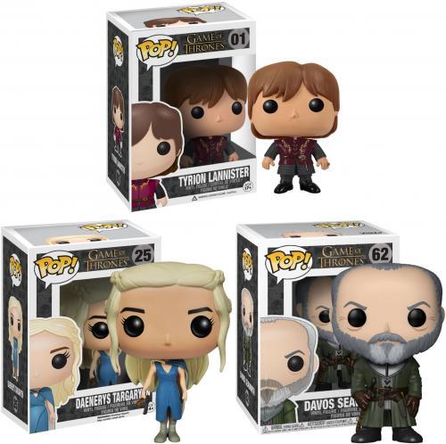 Davos, Daenerys & Tyrion Game of Thrones Funko Pop! Bundle