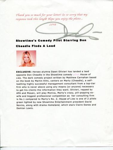 Dawn Olivieri House of Lies Heroes The Vampire Diaries SupremacSigned Autograph