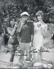 Dawn Wells & Tina Louise Signed Gilligans Island 8x10 Photo Autograph Jsa Coa