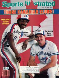 DAWSON, ANDRE AUTO (7/18/1983)(MLB) SPORTS ILLUSTRATED - Mounted Memories