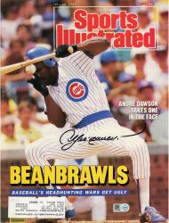 Andre Dawson Chicago Cubs Autographed Beanbrawls Sports Illustrated Magazine