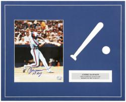 Andre Dawson Montreal Expos Autographed Matted 8'' x 10'' Photograph with 77 ROY Inscription - Mounted Memories