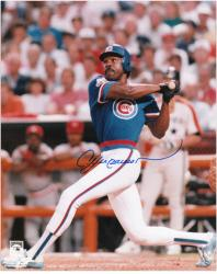 Andre Dawson Chicago Cubs Autographed 8'' x 10'' Batting Photograph - Mounted Memories