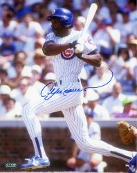 Andre Dawson Chicago Cubs Autographed 8'' x 10'' After Swing Photograph