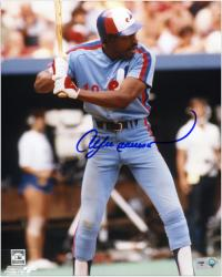 """Andre Dawson Montreal Expos Autographed 8"""" x 10"""" Batting Photograph"""