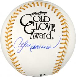 Andre Dawson Chicago Cubs Autographed Gold Glove Baseball