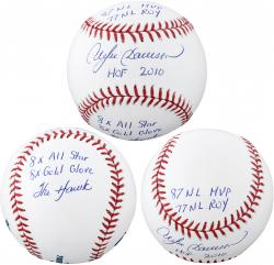 Andre Dawson Chicago Cubs Autographed Baseball with Multiple Inscriptions-#2-23 of a Limited Edition of 24 - Mounted Memories