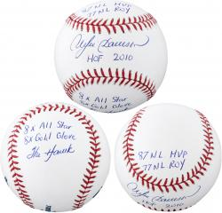 Andre Dawson Chicago Cubs Autographed Baseball with Multiple Inscriptions - #24 of a Limited Edition of 24 - Mounted Memories