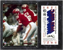Kansas City Chiefs Super Bowl IV Len Dawson Plaque with Replica Ticket - Mounted Memories