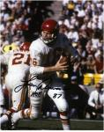 "Len Dawson Kansas City Chiefs Autographed 8"" x 10"" Looking to Pass Photograph with HOF 87 Inscription"