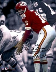 MOU CHIEF INSC LEN DAWSON 11X14 AUT PHOTO NFL AUTPHO - Mounted Memories