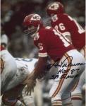 """Len Dawson Kansas City Chiefs Autographed 8"""" x 10"""" Under Center Photograph with Multiple Inscriptions"""