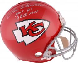 Len Dawson Kansas City Chiefs Autographed Riddell Pro-Line Authentic 1963-73 Helmet with Multiple Inscriptions