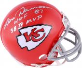 Len Dawson Kansas City Chiefs Autographed Riddell 1963-73 Throwback Mini Helmet with Multiple Inscriptions