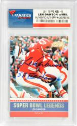 Len Dawson Kansas City Chiefs Autographed 2011 Topps # Super Bowl Legends Card with SB IV Champs Inscription