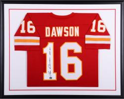 Len Dawson Kansas City Chiefs Framed Autographed Red Custom Jersey