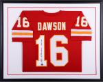 Len Dawson Kansas City Chiefs Framed Autographed Red Custom Jersey