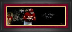Len Dawson Kansas City Chiefs Framed Autographed 10'' x 30'' Film Strip Photograph-#2-23 of Limited Edition of 24 With Multiple Inscriptions