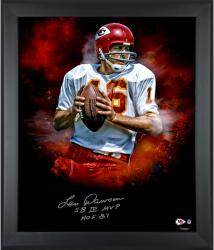 Len Dawson Kansas City Chiefs Framed Autographed 20'' x 24'' In Focus Photograph-#24 of Limited Edition of 24 With Multiple Inscriptions