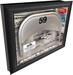 "Daytona International Speedway Shadow Box with Metal 59 Seat ""Founder's Edition"
