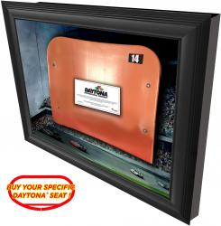 Daytona International Speedway Shadow Box with Specific Numbered Ducharm Seat - Mounted Memories