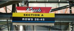 Daytona International Speedway Whole Plastic Sign-Keech Section A Rows 26-45
