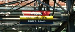 Daytona International Speedway Whole Plastic Sign-Keech Sections A-B Rows 26-45