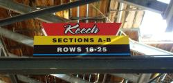 Daytona International Speedway Whole Plastic Sign-Keech SectionS A-B/Rows 16-25