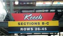 Daytona International Speedway Whole Plastic Sign-Keech Sections B-C Rows 26-45