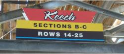 Daytona International Speedway Whole Plastic Sign-Keech SectionS B-C/Rows 14-25