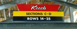 Daytona International Speedway Whole Plastic Sign-Keech SectionS C-D/Rows 14-25
