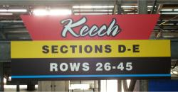 Daytona International Speedway Whole Plastic Sign-Keech SectionS D-E/Rows 26-45