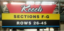 Daytona International Speedway Whole Plastic Sign-Keech SectionS F-G/Rows 26-45