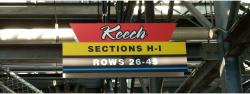 Daytona International Speedway Whole Plastic Sign-Keech SectionS H-I/Rows 26-45