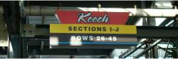 Daytona International Speedway Whole Plastic Sign-Keech SectionS I-J/Rows 26-45