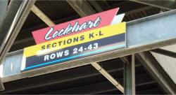 Daytona International Speedway Whole Plastic Sign-Lockhart Section K-L  Rows 24-43