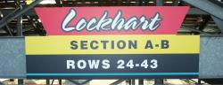 Daytona International Speedway Whole Plastic Sign-Lockhart Sections A-B  Rows 24-43