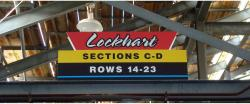 Daytona International Speedway Whole Plastic Sign-Lockhart Sections C-D Rows 14-23