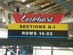 Daytona International Speedway Whole Plastic Sign-Lockhart Sections G-I Rows 14-23