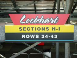 Daytona International Speedway Whole Plastic Sign-Lockhart Sections H-I Rows 24-43